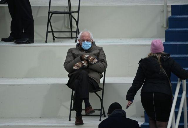 برنی سندرز در مراسم تحلیف
