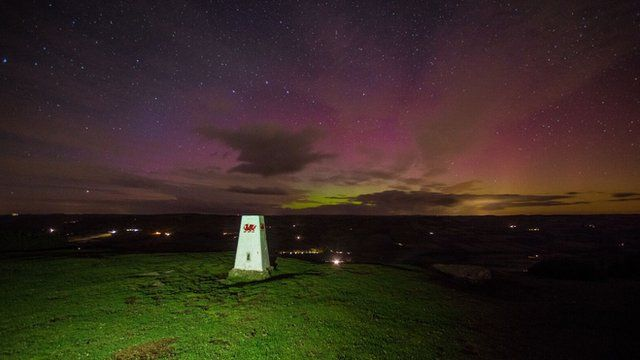Northern Lights over the Brecon Beacons