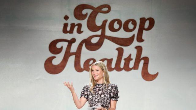 """La actriz Gwyneth Paltrow, fundadora de Goop, durante una """"cumbre Goop"""" de la Salud en junio de 2018 en California."""