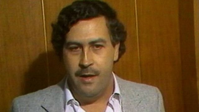 Pablo Escobar durante entrevista