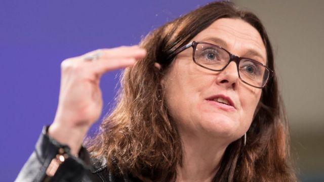 La comisaria europea de Comercio, Cecilia Malmström
