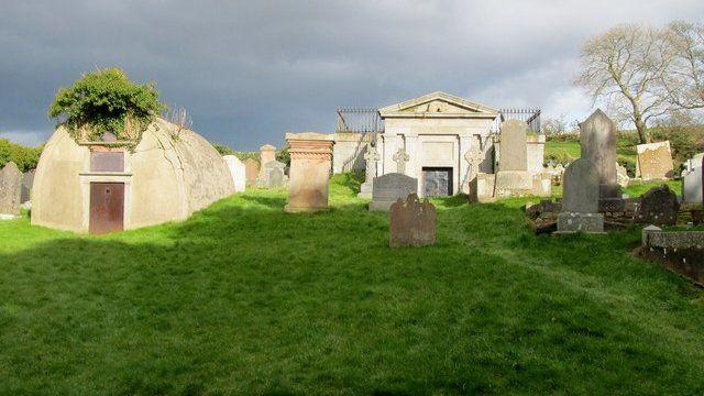 Inch Abbey Graveyard