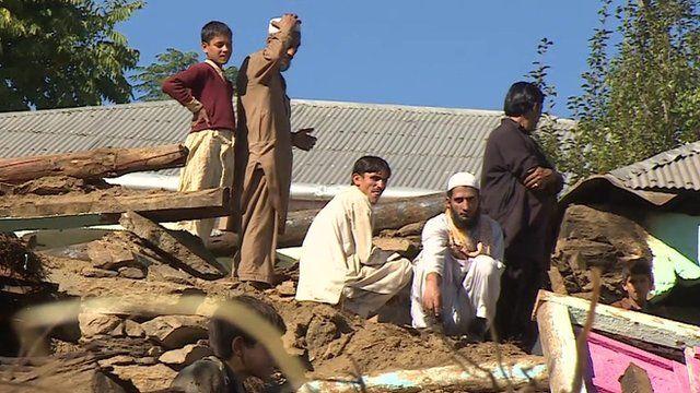 People in village in Pakistan