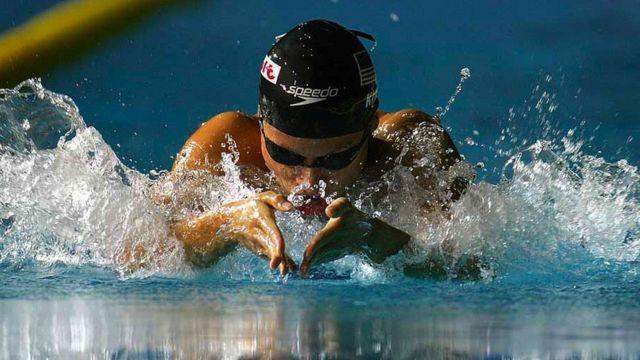 Tara Kirk Sell swimming breaststroke