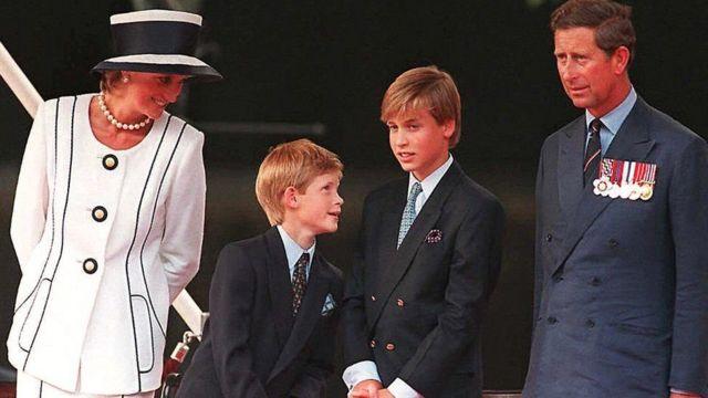 принцеса Діана, принц Гаррі, принц Вільям. принц Чарльз