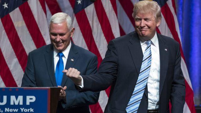 Майк Пенс и Дональд Трамп пойдут на выборы в паре