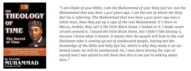 الایجا محمد رهبر و بنیانگذار جنبش امت اسلام در شیکاگو بود