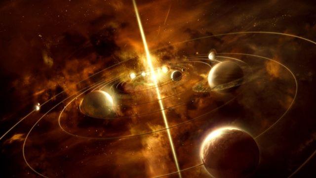Universo con una luz durada