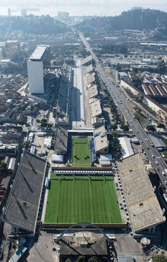 Vista aérea do Sambódromo