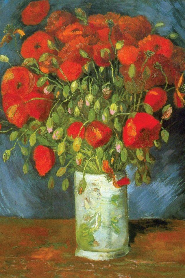 Red poppies.  Vincent van Gogh, 1880.