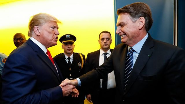 Trump e Bolsonaro na ONU
