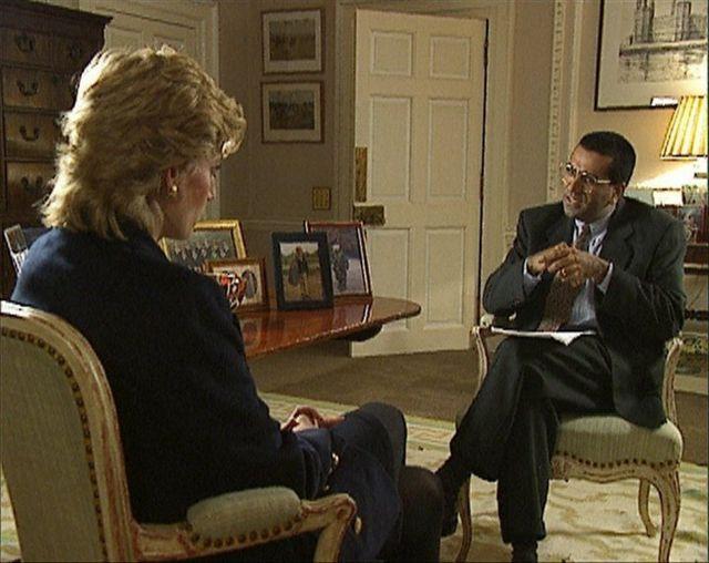 Diana the Princess of Wales with Martin Bashir. November 1995