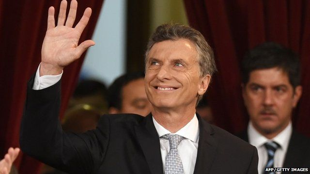 Argentina President Mauricio Macri sworn in