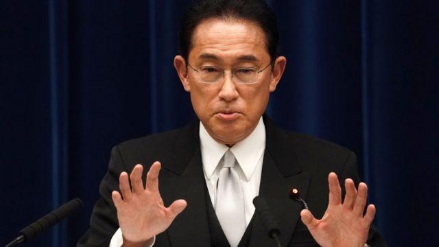 Ông Fumio Kishida, Thủ tướng Nhật Bản, phát biểu trong một cuộc họp báo tại dinh thự chính thức của thủ tướng hôm 04 /10/2021 tại Tokyo, Nhật Bản.