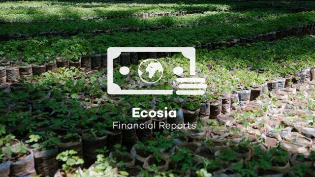 Una foto de la web de Ecosia