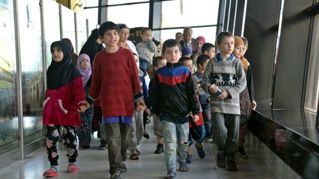 نشر قديروف مقطعا بالفيديو يصور مغادرة الأطفال بغداد