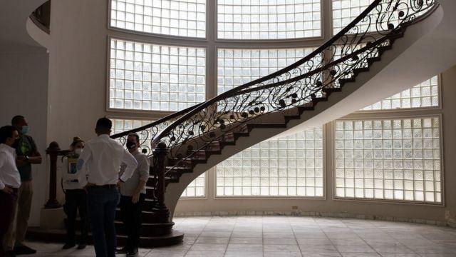Stairs of the Montecasino mansion.