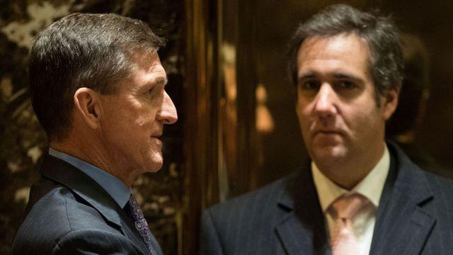 مایکل کوهن و مایکل فلین در برج ترامپ