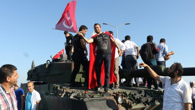 Люди на танке