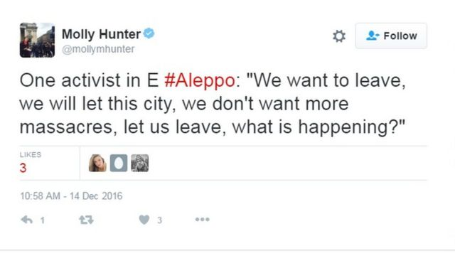 ABC müxbiri Molly Hunter-in paylaşdığı tvit