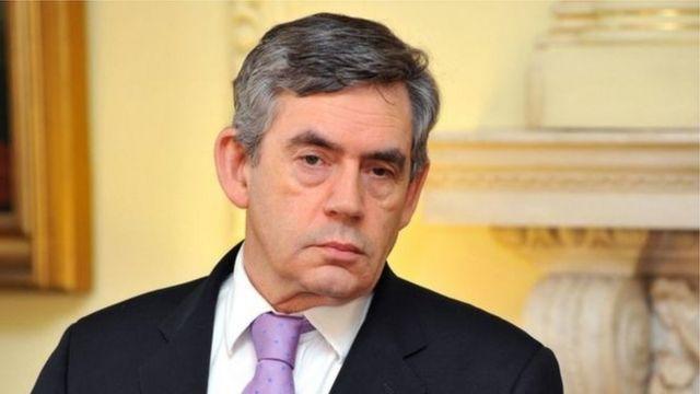 گوردون براون در زمان حمله به عراق وزیر دارایی بود