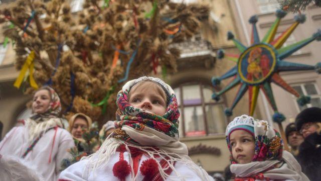 Вертеп у центрі Львова, 6 січня