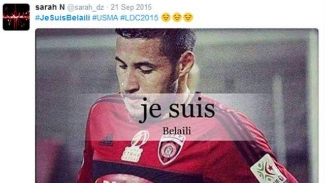 Le footballeur algérien avait bénéficié d'un large soutien, sur les réseaux sociaux après l'annonce de sa suspension.
