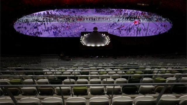 Las gradas vacías en el estadio olímpico