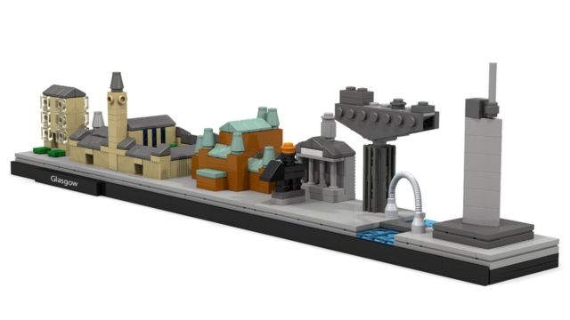Lego fan designs Glasgow skyline