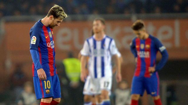 ميسي سجل هدف التعادل لبرشلونة