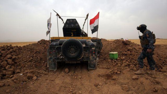 Habur Sınır Kapısı yakınlarındaki Irak askerleri
