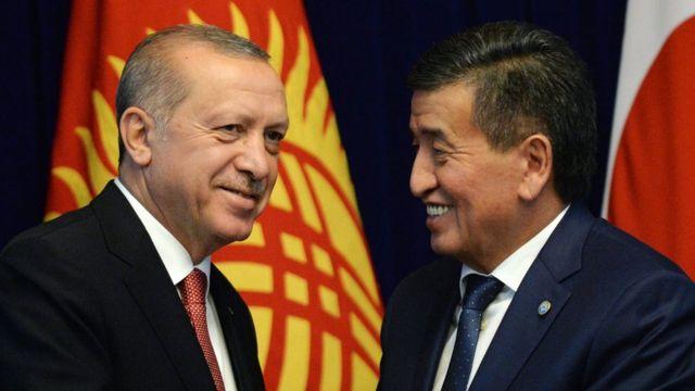 Cumhurbaşkanı Erdoğan, Kırgızistan Cumhurbaşkanı Sooronbay Ceenbekov ile de baş başa görüştü.
