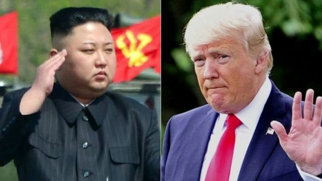 Kuzey Kore lideri Kim Jong-Un ve ABD Başkanı Donald Trump