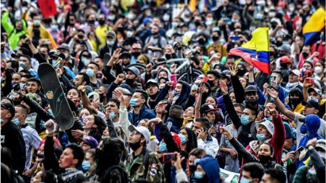 Una manifestación en Colombia