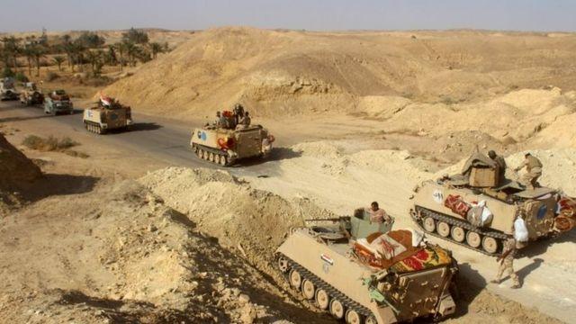 अनबर में इराक़ी सरकारी सेना