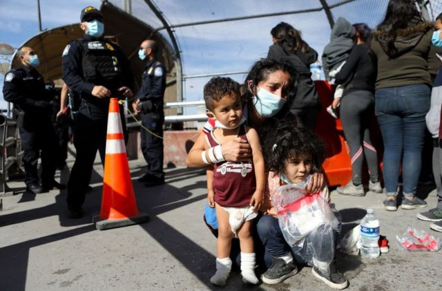 Migrants rejected in El Paso, Texas, on the border with Mexico.  March 18th