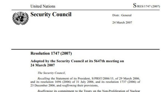 UNSC ‌resolutions