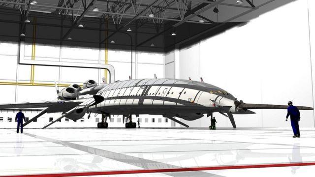 Гигантский авиалайнер мог бы перевозить до 250 пассажиров со скоростью, втрое превышающей скорость звука
