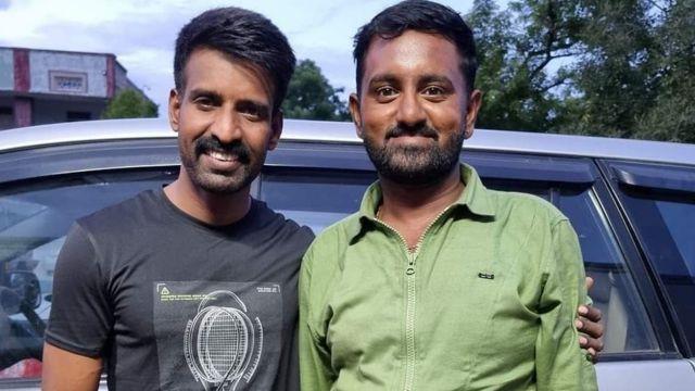 நடிகர் சூரியுடன் விக்னேஷ்