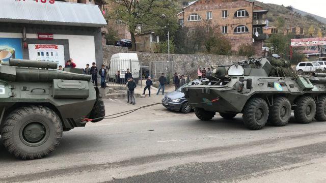Российские миротворцы в Горисе