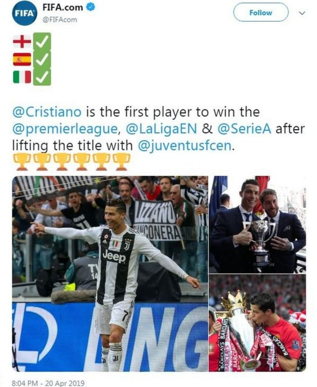 Tarihin da Ronaldo ya kafa