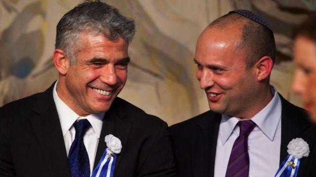 Yair Lapid y Naftali Bennett.