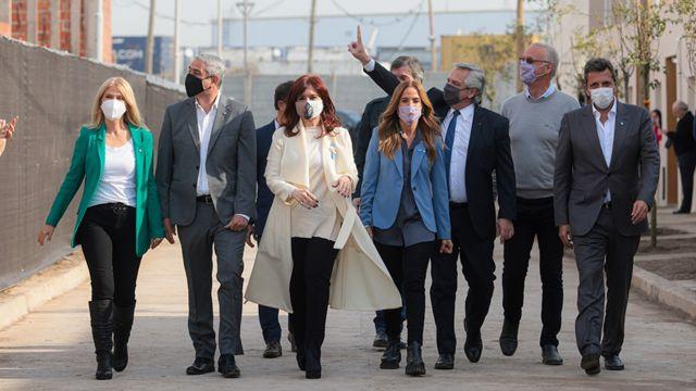 Alberto Fernández, Cristina Fernández de Kirchner y los líderes del Frente de Todos