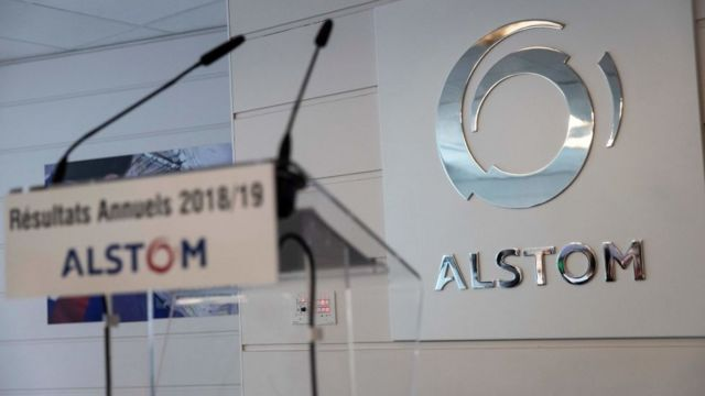 Logo Alstom, perusahaan energi asal Prancis