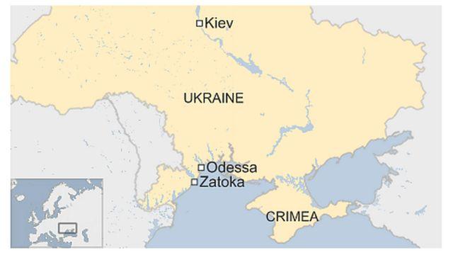 Boat capsizes near Ukrainian city of Odessa 'leaving 12 dead'