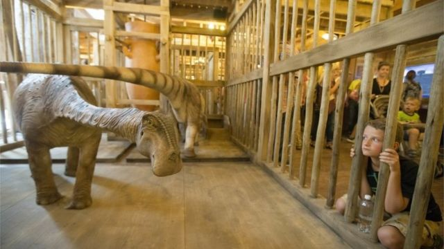Noah's Ark theme park opens in Kentucky with life-size model