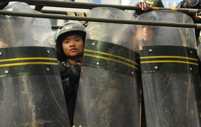 一名中国士兵