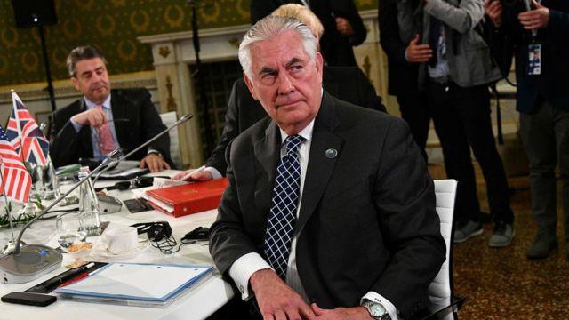 وزير الخارجية الإمريكي ريكس تيلرسون