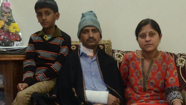 अरुण शर्मा का परिवार.