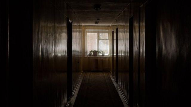 Чернобил меҳмонхонаси ичида